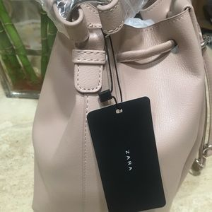 Zara knotted bucket bag